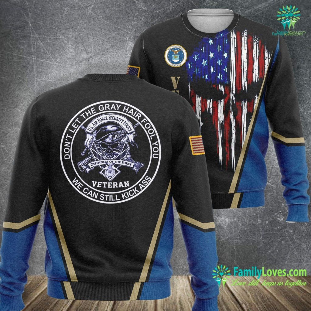 White High Top Air Force Ones Air Force Security Police Veteran Air Force Sweatshirt All Over Print Familyloves.com