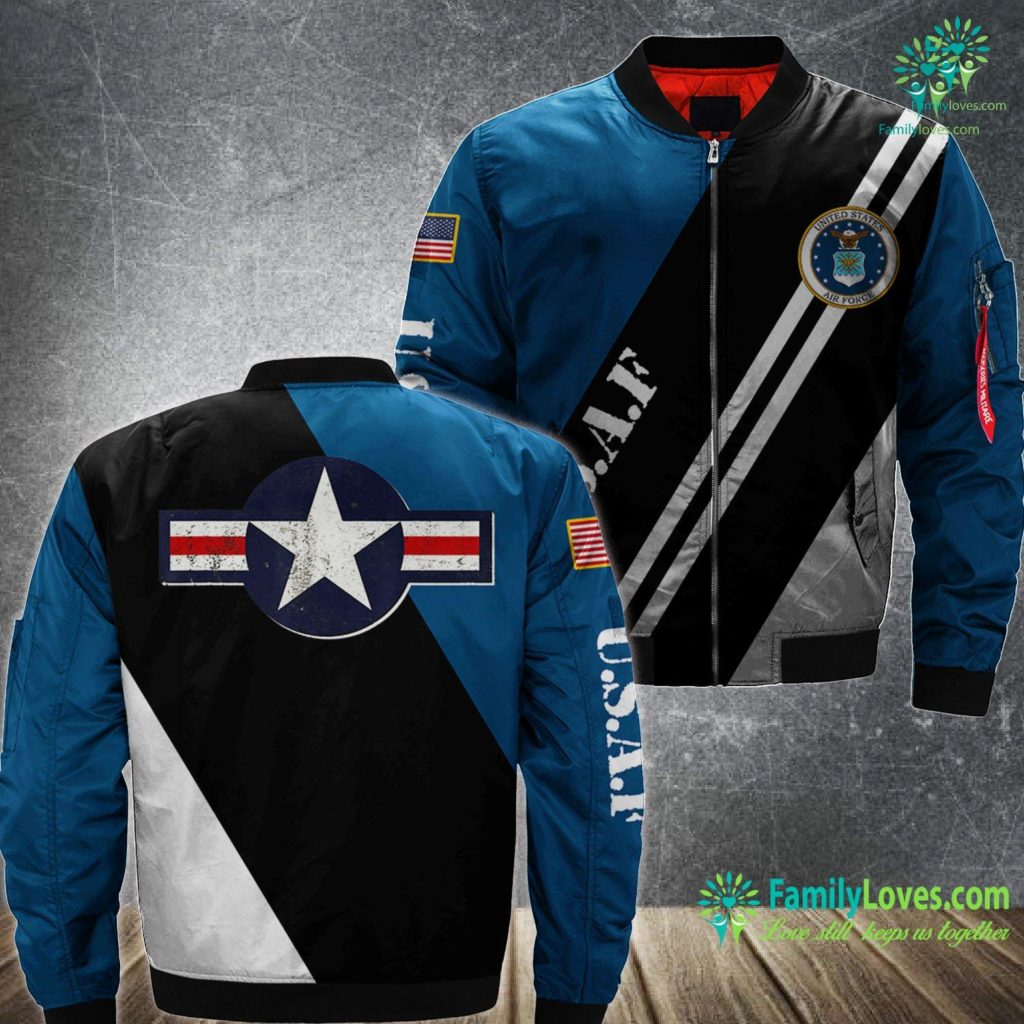 Who Is The Secretary Of The Air Force Vintage U S Air Force Original Usaf Logo Gift Air Force MA1 Bomber Jacket All Over Print Familyloves.com