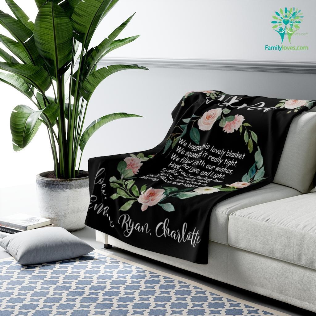 Nana We Hugged This Blanket Hope And Love And Light Sherpa Fleece Blanket Familyloves.com