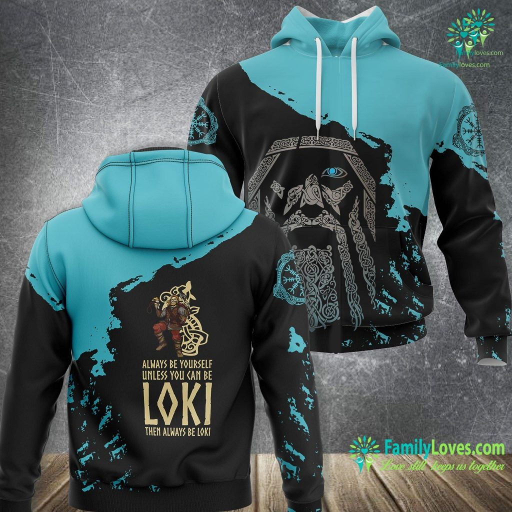 Alfred Vikings Asatru Norse Mythology Pagan Viking Trickster God Loki Gift Viking Unisex Hoodie All Over Print Familyloves.com
