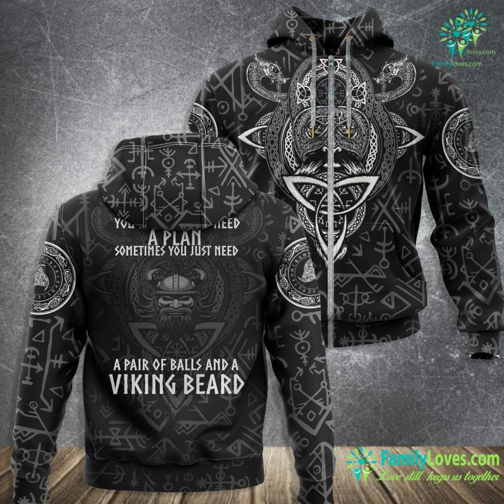Bjorn Boots Funny Norse Viking You Don T Always Need A Plan Beard Gift Premium Viking Zip-up Hoodie All Over Print Familyloves.com