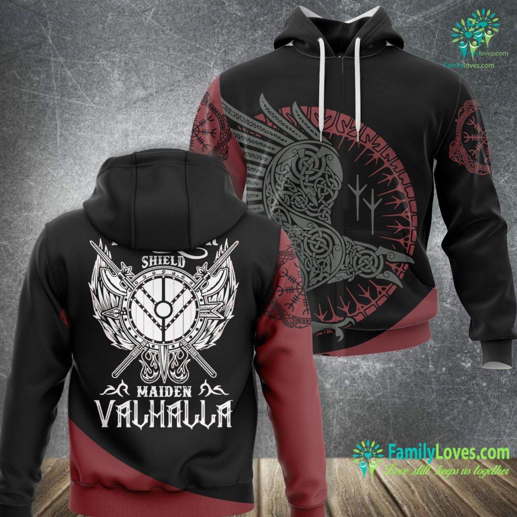 Celtic Symbol For Warrior Victory Or Shield Maiden Valhalla Viking Female Warrior Viking Unisex Hoodie All Over Print Familyloves.com