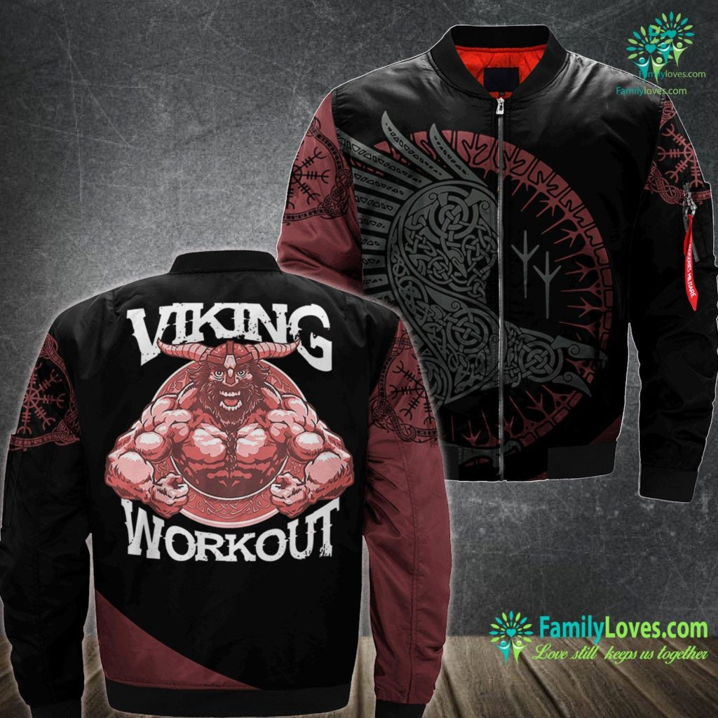 Celtic Torc Viking Norseman Workout Muscle Man Weightlifters Gift Viking Ma1 Bomber Jacket All Over Print Familyloves.com