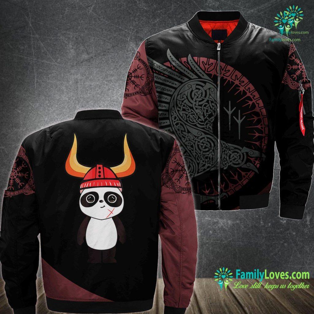 Creed Viking Viking Panda Bear Warrior Viking Ma1 Bomber Jacket All Over Print Familyloves.com