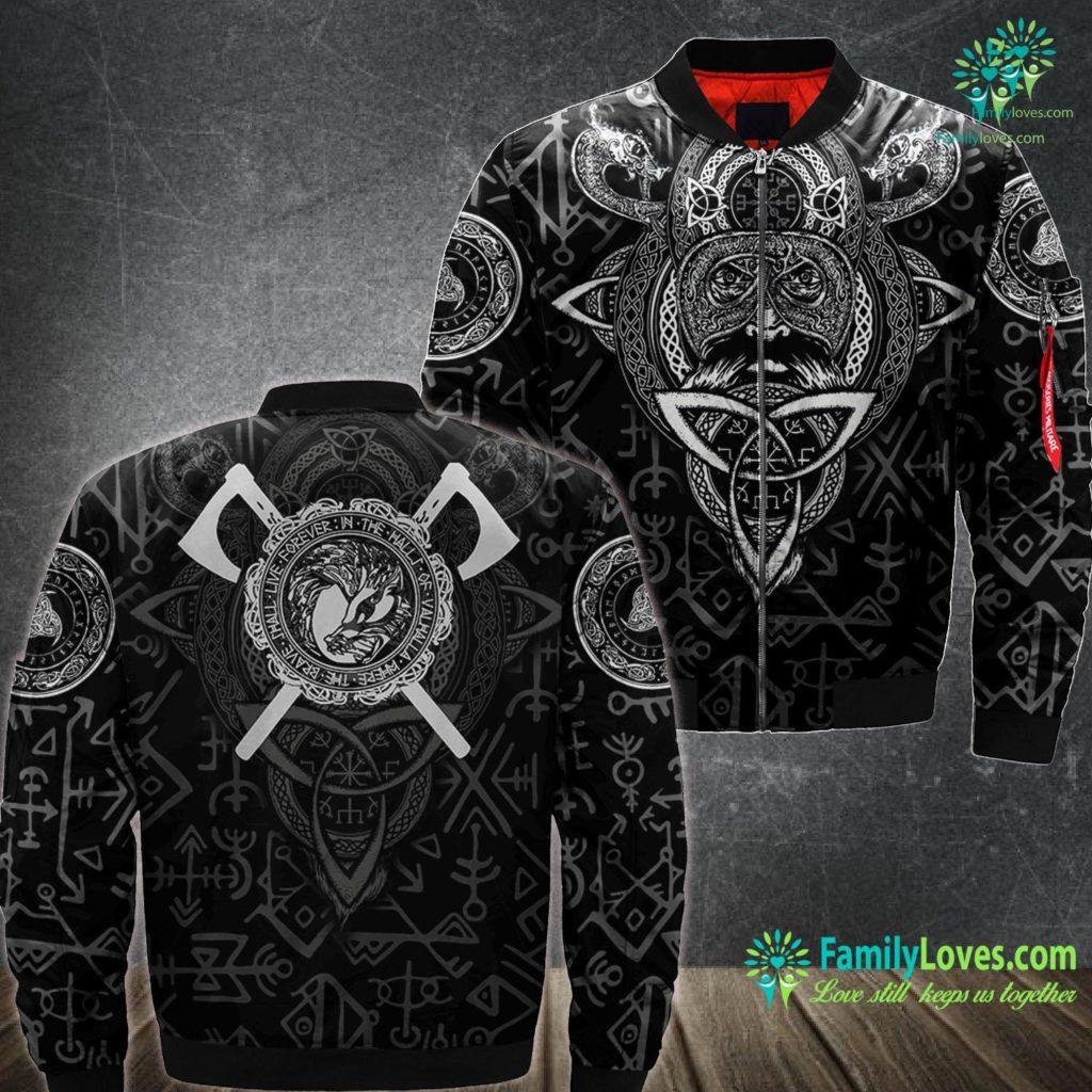 Elder Futhark Alphabet Fenrir Wolf Of Odin Norse Mythology Men Women Kid Viking Ma1 Bomber Jacket All Over Print Familyloves.com