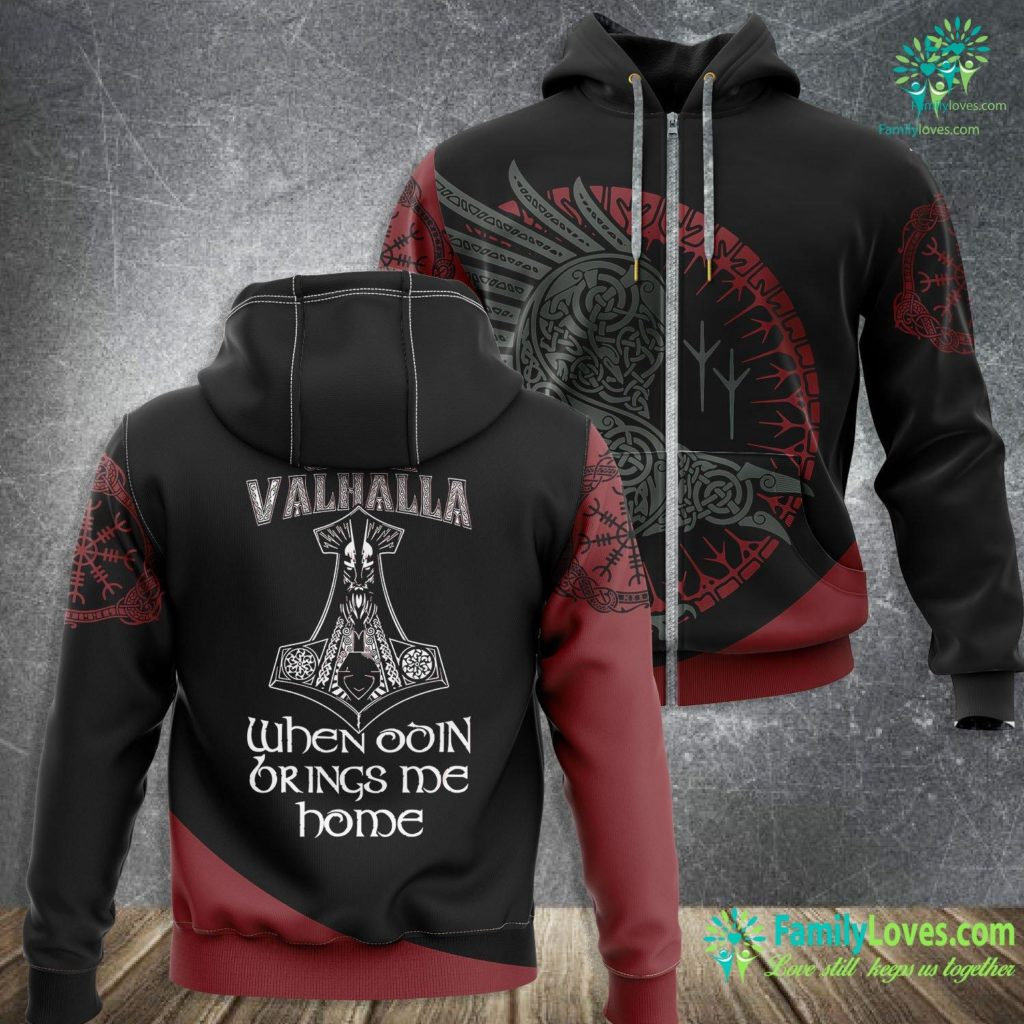 Futhark Rune Meanings Until Valhalla When Odin Brings Me Home Vikings Viking Zip-up Hoodie All Over Print Familyloves.com