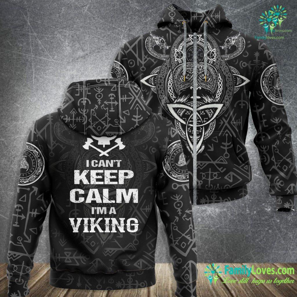 How Big Were Vikings I Can T Keep Calm I Am A Viking Viking Zip-up Hoodie All Over Print Familyloves.com