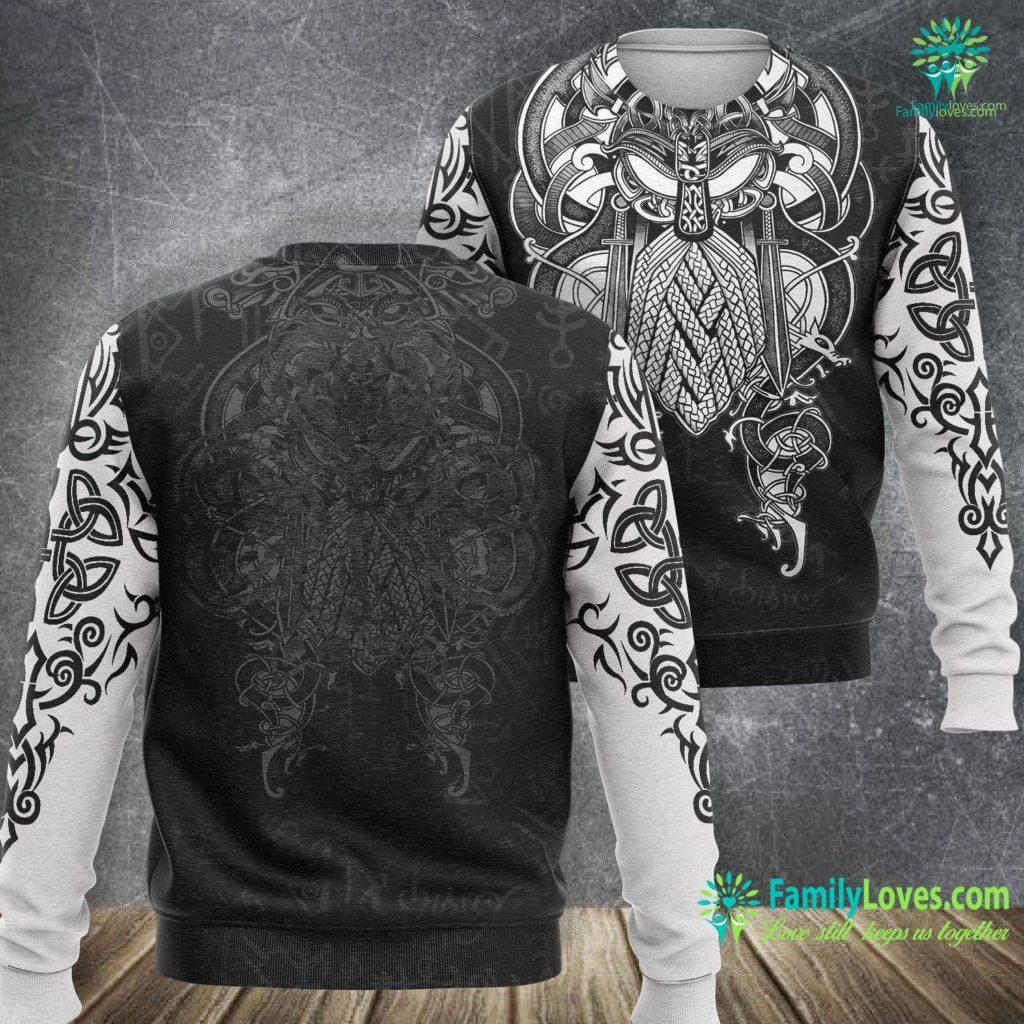 Ivar Vikings St Patrick S Day Viking Knotwork Tree Of Life Celtic Viking Sweatshirt All Over Print Familyloves.com