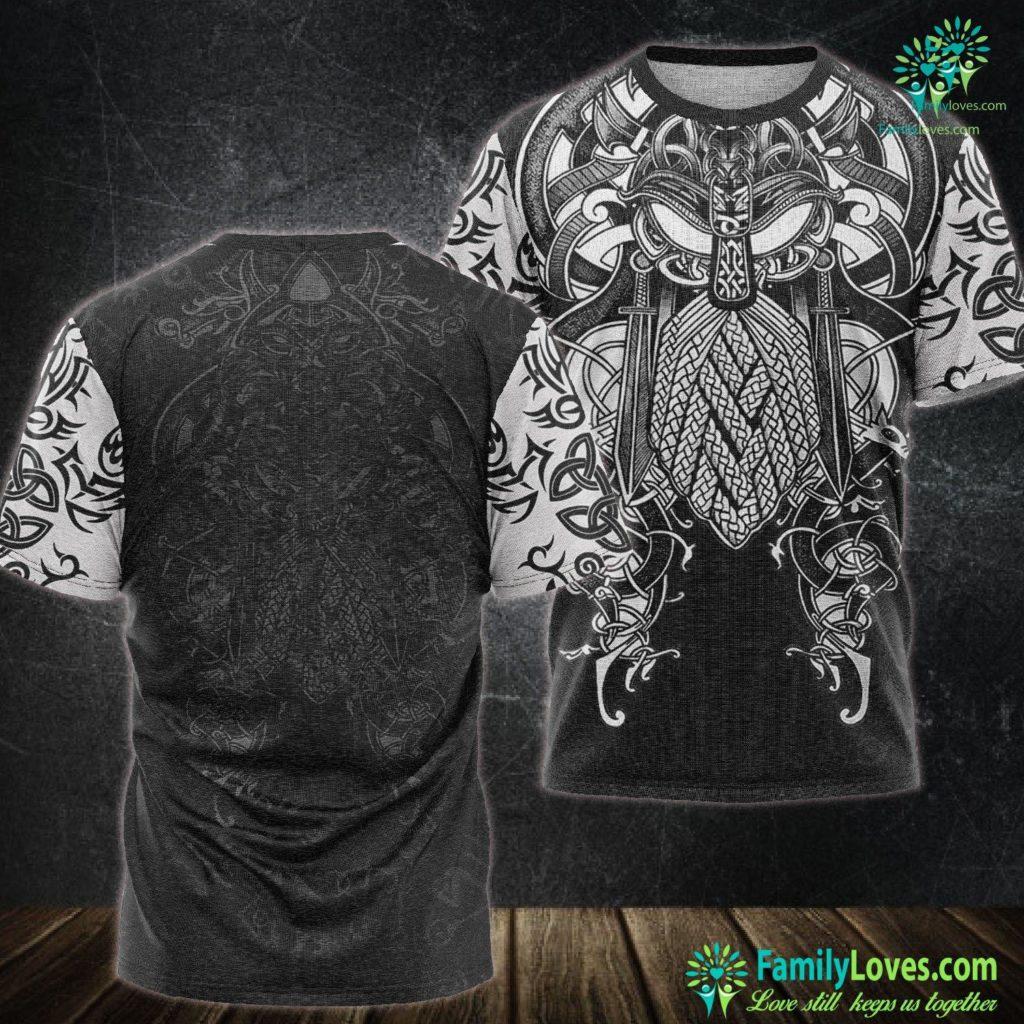 Ivar Vikings St Patrick S Day Viking Knotwork Tree Of Life Celtic Viking Unisex Tshirt All Over Print Familyloves.com