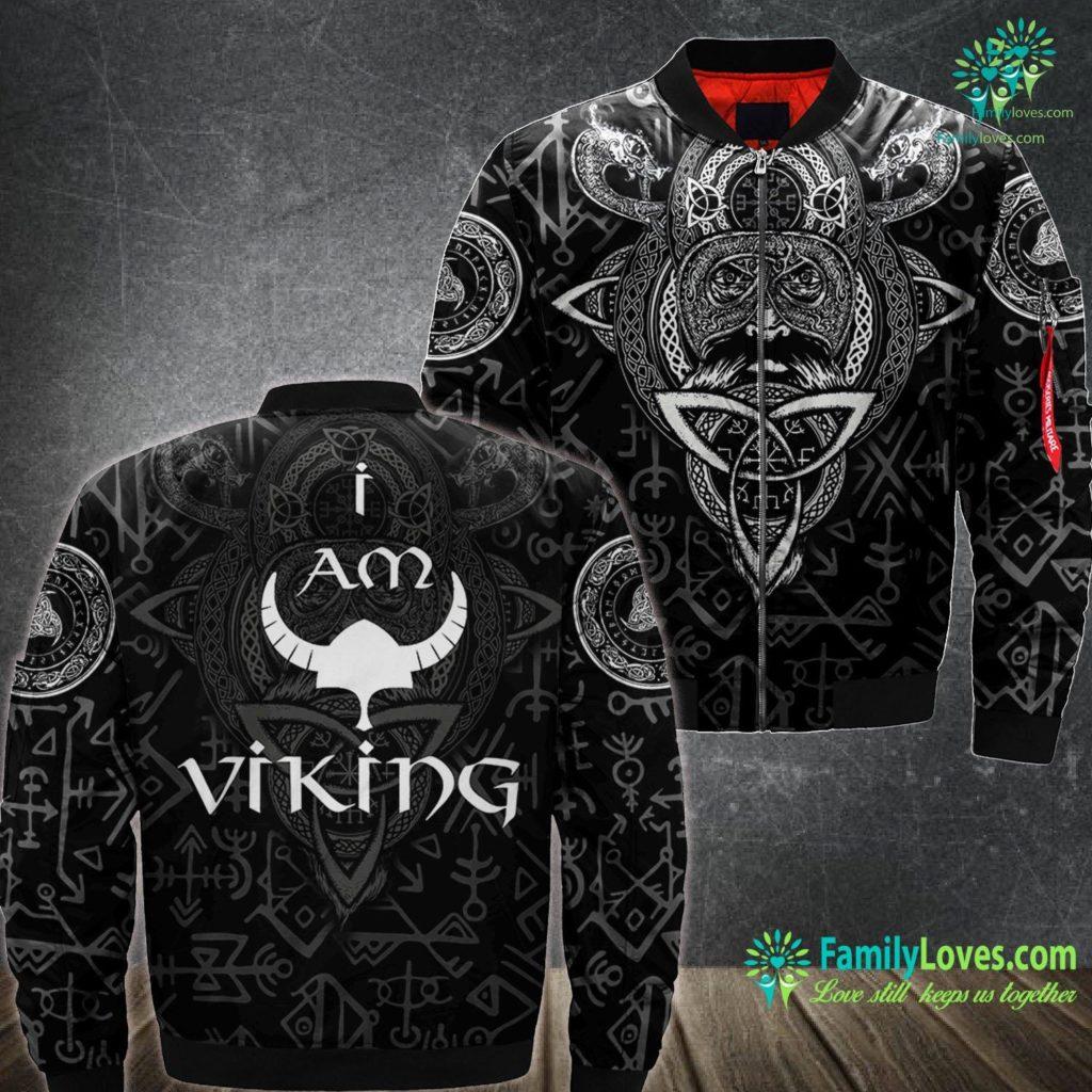 Nordic Compass I Am Viking Gift For Men Women Or Children Viking Ma1 Bomber Jacket All Over Print Familyloves.com