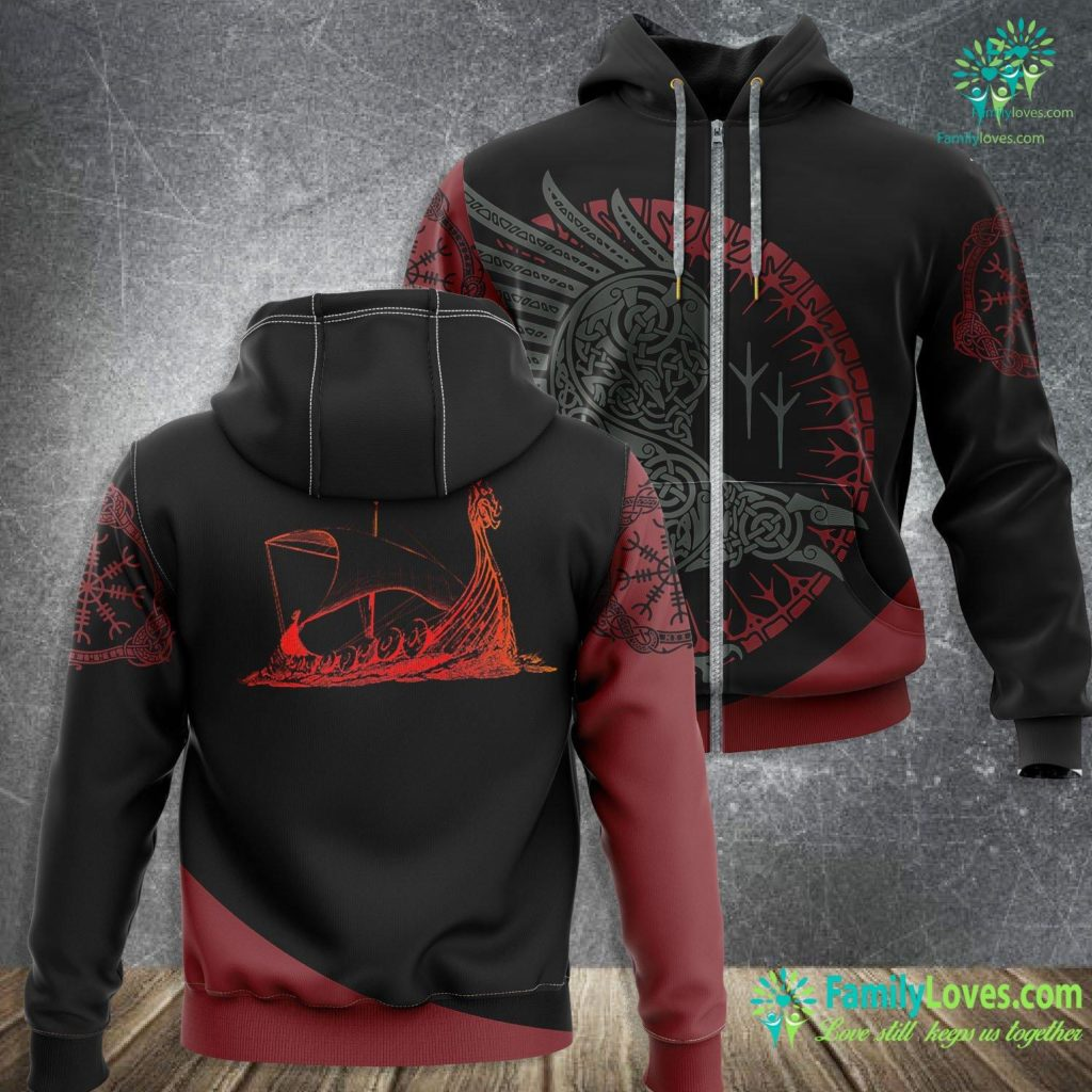 Nordic Symbols And Meanings Viking World Tour Norse History Masculine Alpha Men Nordic Viking Zip-up Hoodie All Over Print Familyloves.com