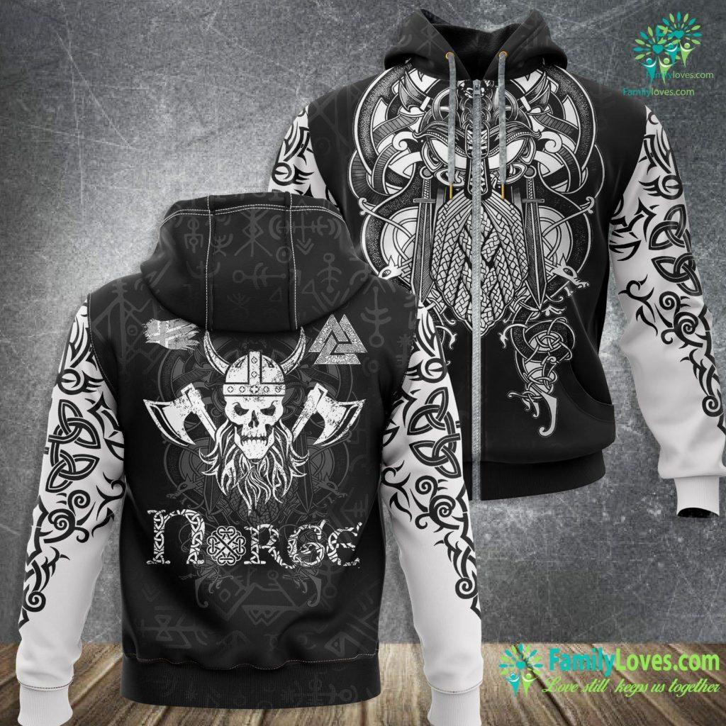 Norse Armor Nordic Viking Warrior Gift For Scandinavian Norse Mythology Premium Viking Zip-up Hoodie All Over Print Familyloves.com
