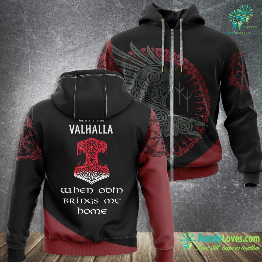 Norse Helmet Until Valhalla Odin Hammer Vikings Norse Asatru Viking Zip-up Hoodie All Over Print Familyloves.com