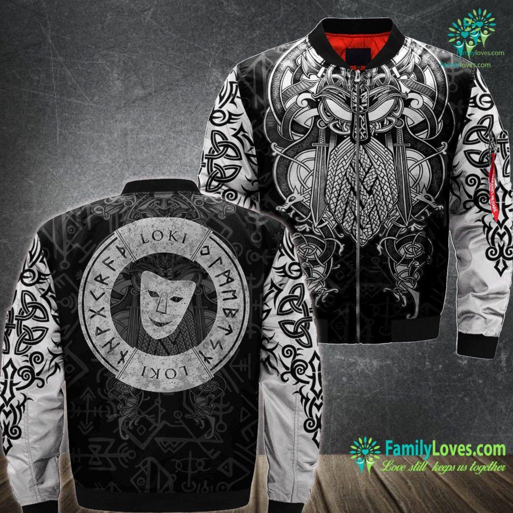 Norse Wolf Norse God Loki Viking Mythology Lore Symbol Viking Ma1 Bomber Jacket All Over Print Familyloves.com
