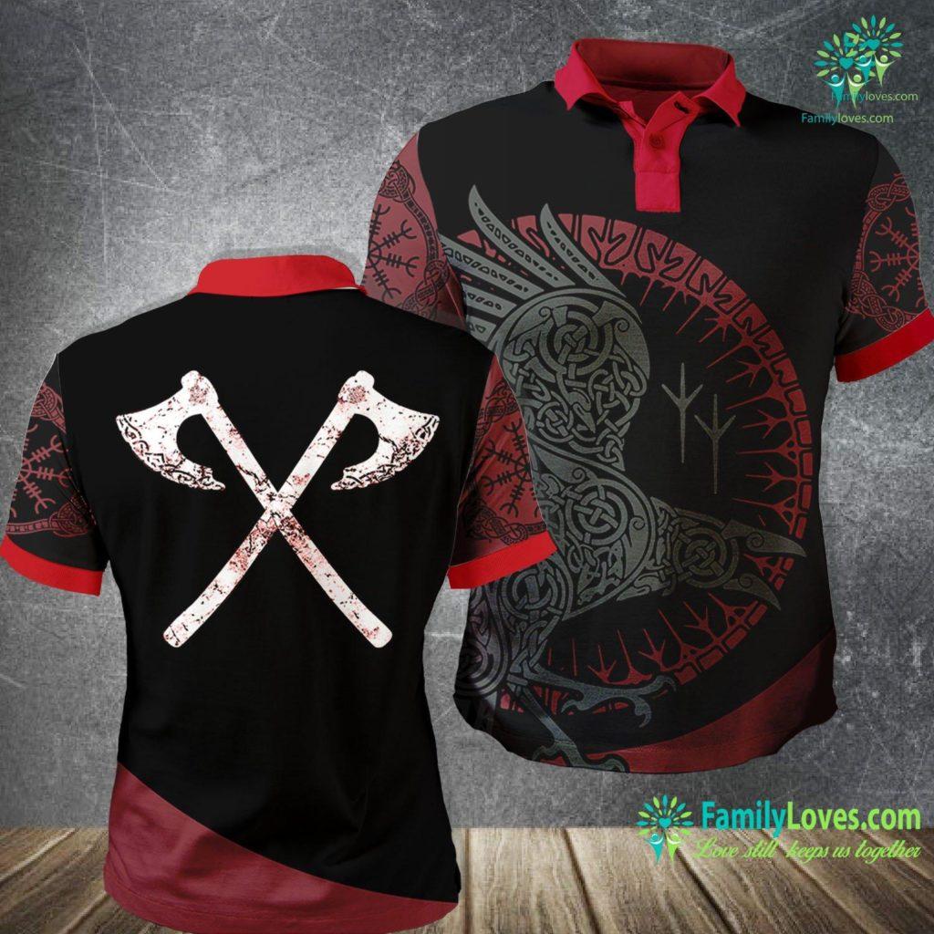 Odin Art Vikings Warrior Men S Viking Battle Axes Viking Polo Shirt All Over Print Familyloves.com