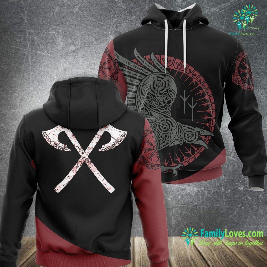 Odin Art Vikings Warrior Men S Viking Battle Axes Viking Unisex Hoodie All Over Print Familyloves.com