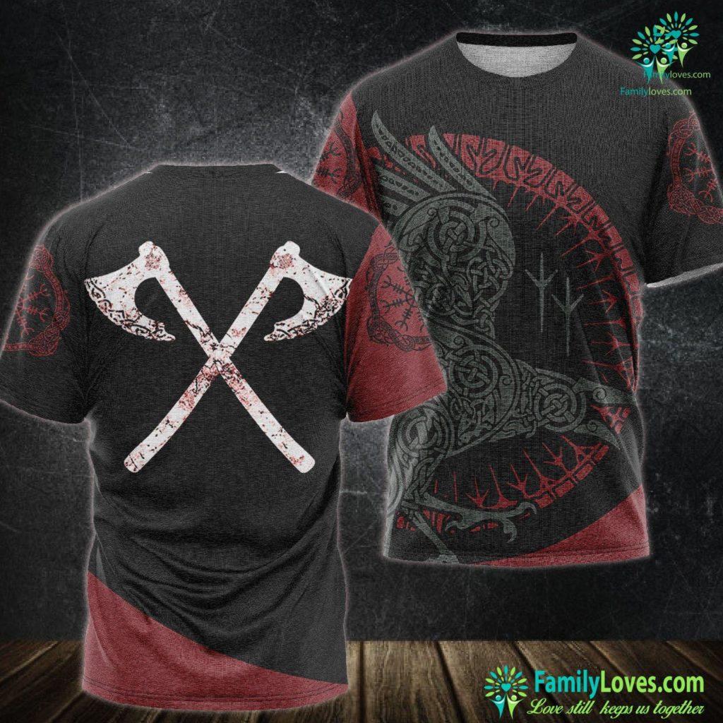 Odin Art Vikings Warrior Men S Viking Battle Axes Viking Unisex Tshirt All Over Print Familyloves.com
