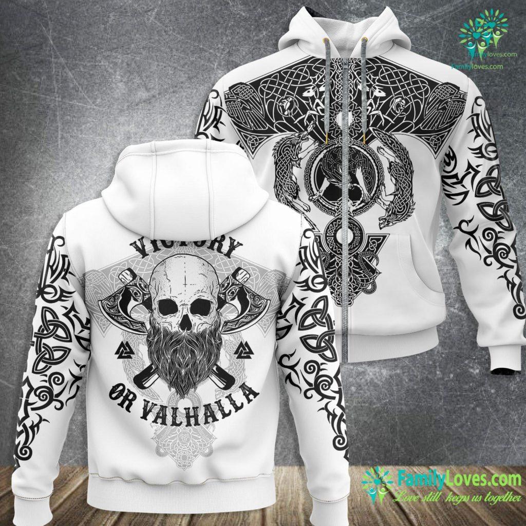 Odin Santa Viking S Victory Or Valhalla Viking Zip-up Hoodie All Over Print Familyloves.com