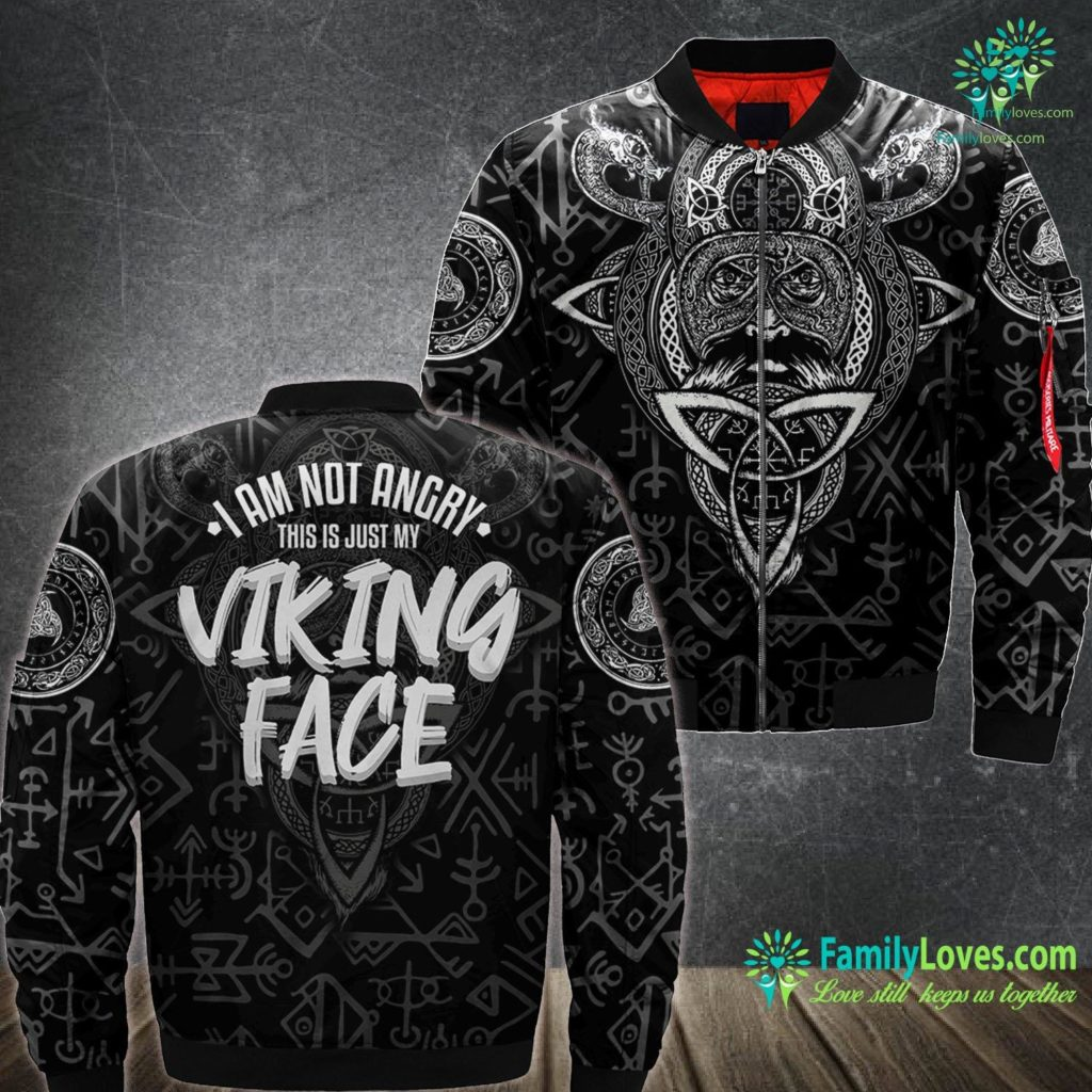 Runes And Their Meanings I Am Not Angry This Is Just My Viking Face W Viking Ma1 Bomber Jacket All Over Print Familyloves.com