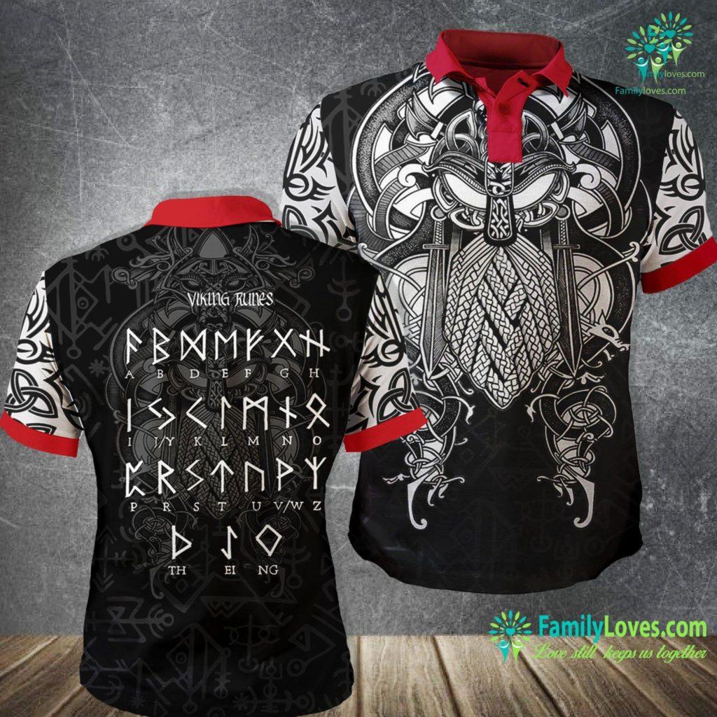 Runes Translator Norse Mythology Runic Alphabet Viking Runes Nordic Gods Viking Polo Shirt All Over Print Familyloves.com