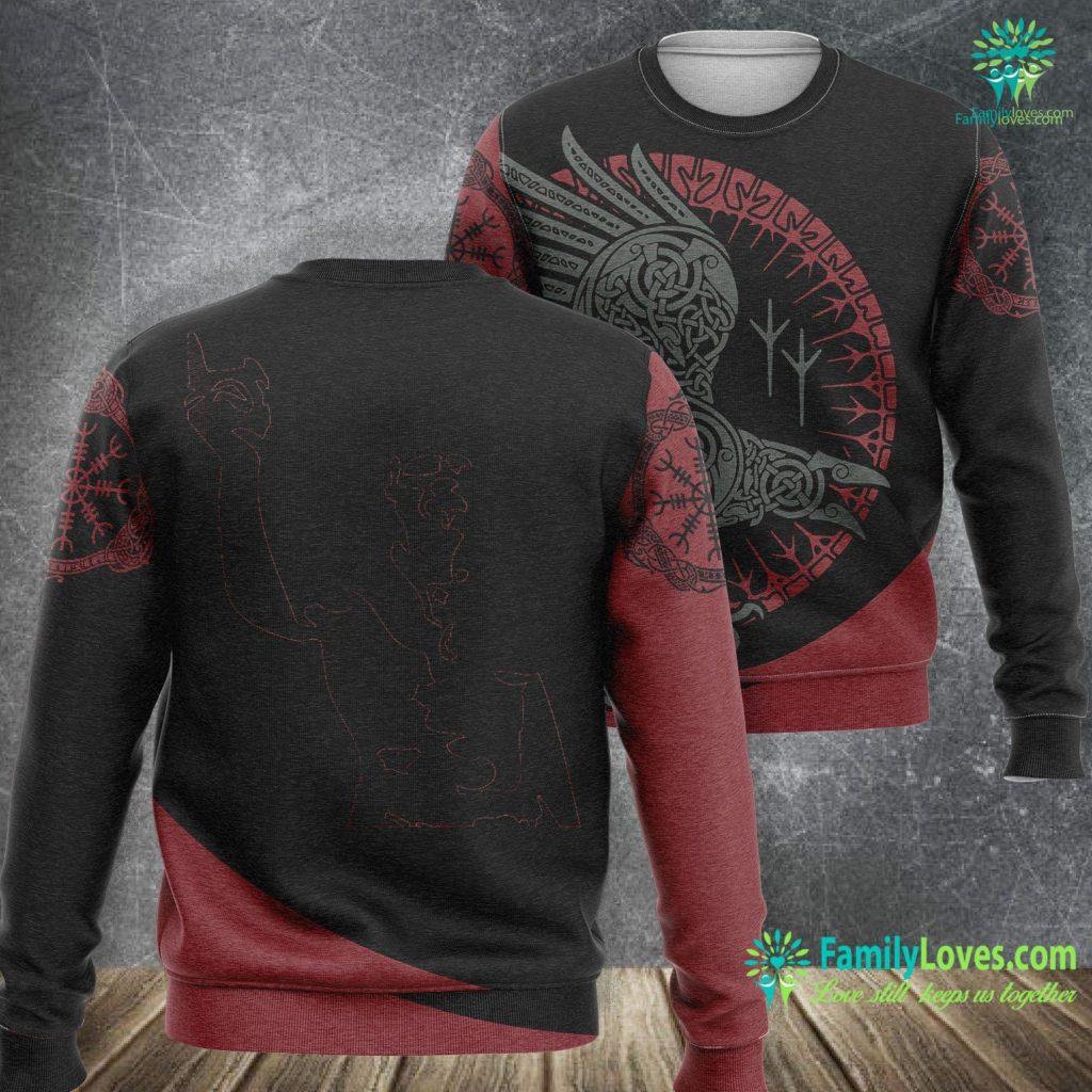 Symbols Of Love And Strength Techno Viking Viking Sweatshirt All Over Print Familyloves.com