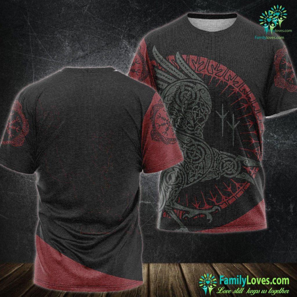 Symbols Of Love And Strength Techno Viking Viking Unisex Tshirt All Over Print Familyloves.com