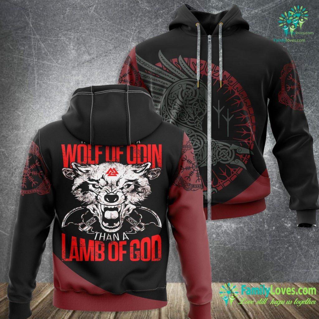 Tree Of Life Wall Art Wolf Of Odin Lamb Of God Vikings Viking Zip-up Hoodie All Over Print Familyloves.com