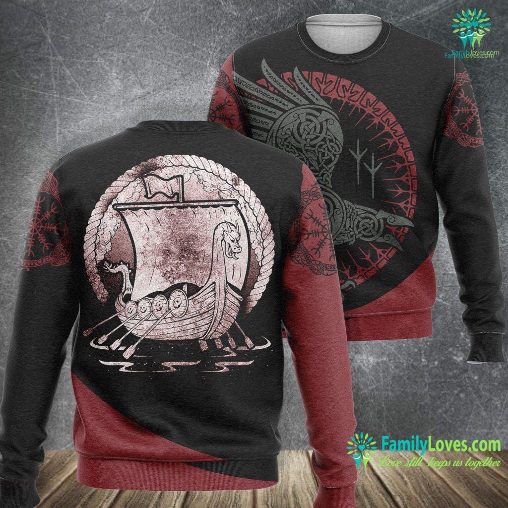 Viking Alaska Cruise Vintage Norse Viking Ship Viking Sweatshirt All Over Print Familyloves.com