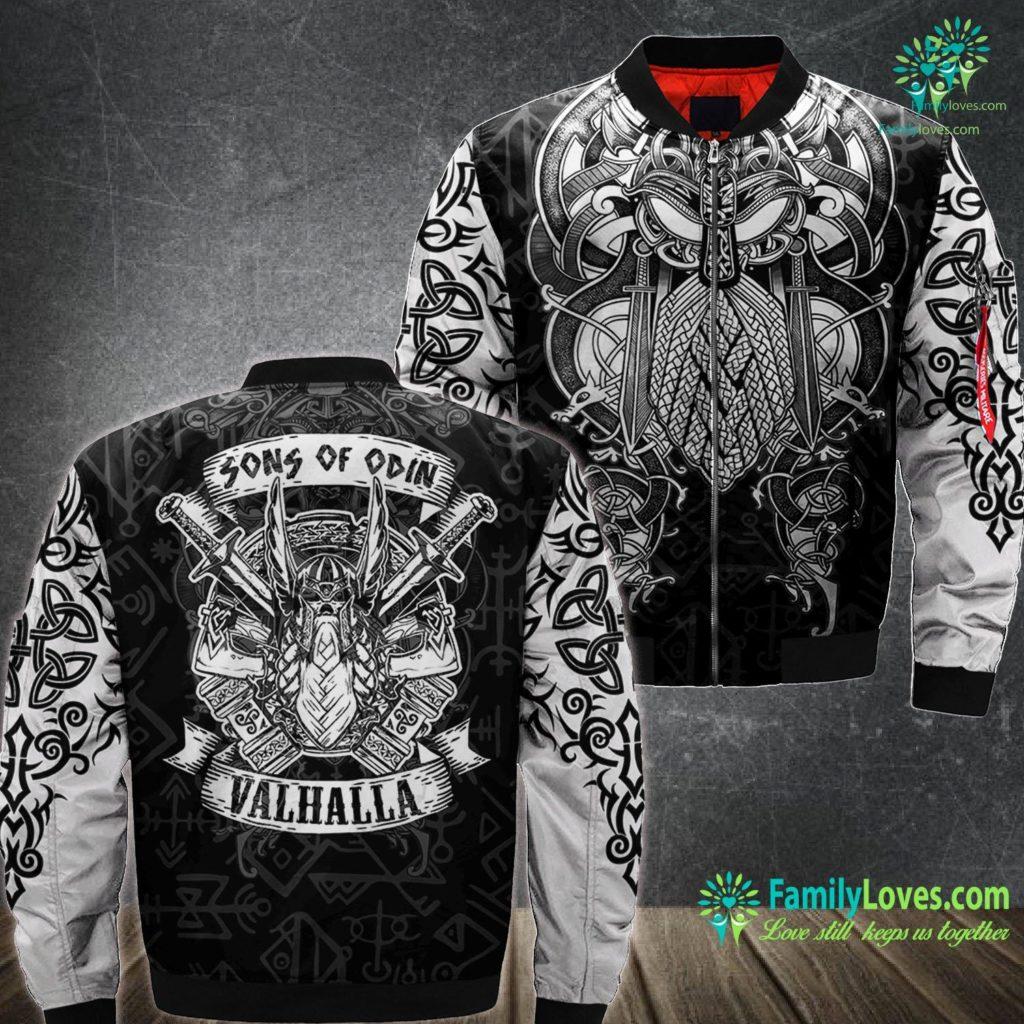Viking Art Mens Sons Of Odin Valhalla Gift For A Viking Warrior Viking Ma1 Bomber Jacket All Over Print Familyloves.com