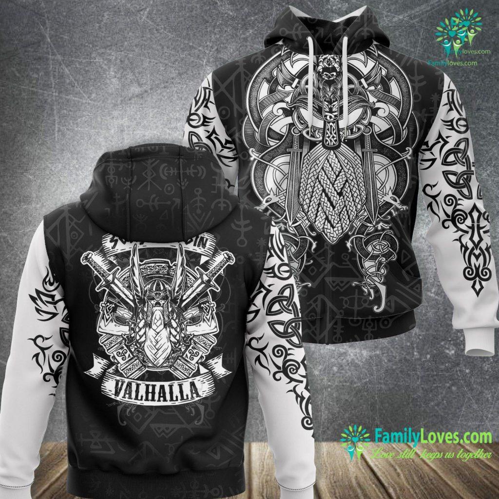 Viking Art Mens Sons Of Odin Valhalla Gift For A Viking Warrior Viking Unisex Hoodie All Over Print Familyloves.com