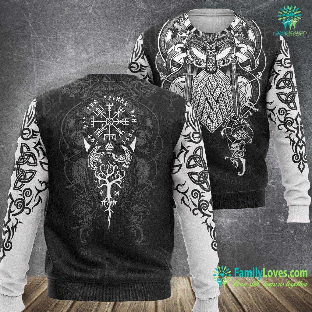 Viking Belt Not All Who Wander Are Lost Symbolic Viking Viking Sweatshirt All Over Print Familyloves.com