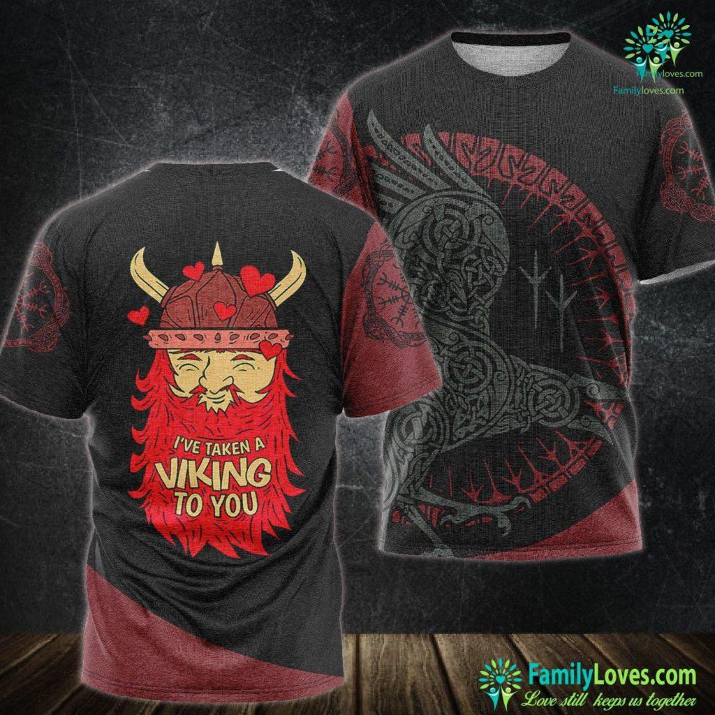 Viking Designs Viking Norse Valentine S Day For Men Women Gifts Viking Unisex Tshirt All Over Print Familyloves.com