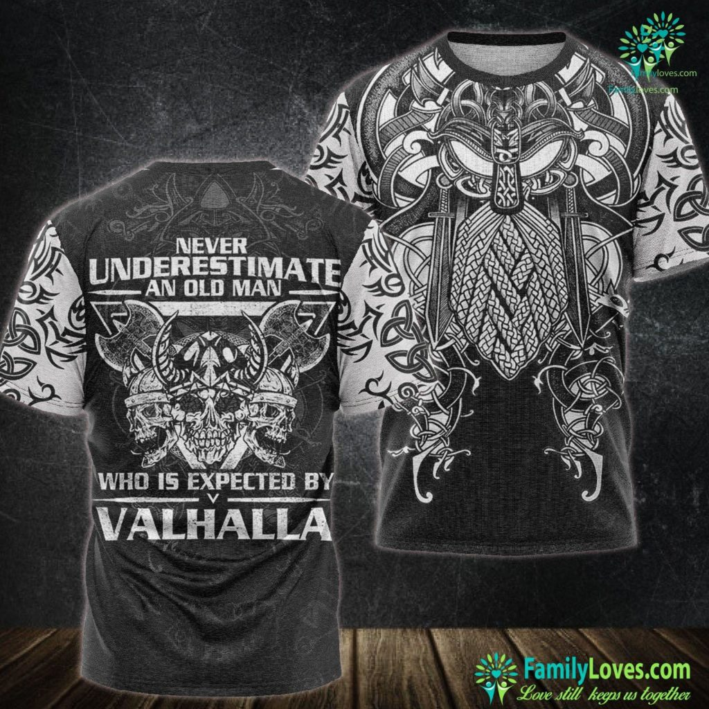 Viking Dishwasher Mens Never Underestimate A Viking I Valhalla Viking Unisex Tshirt All Over Print Familyloves.com