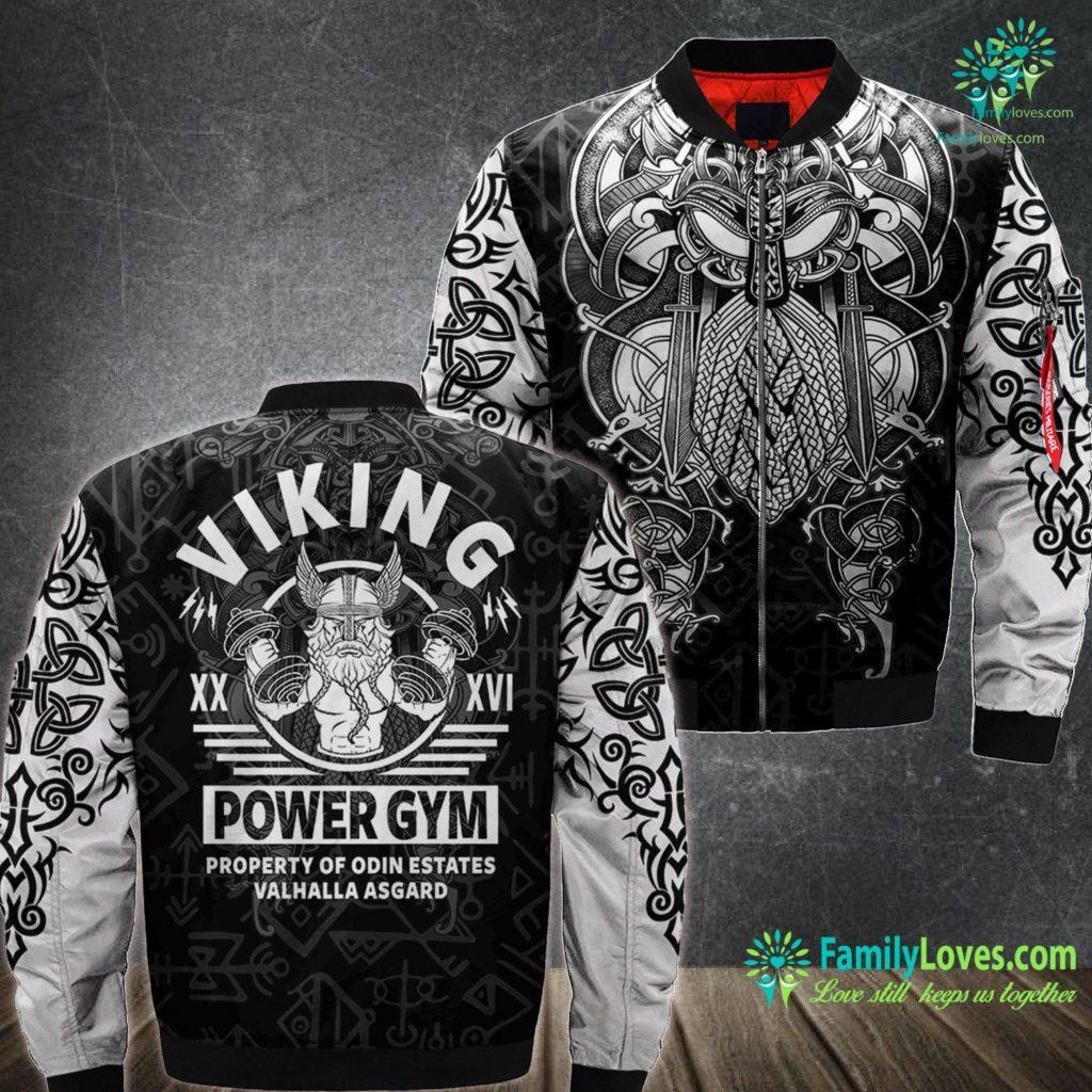 Viking Insurance Company Of Wisconsin Power Lifting Clothing Bodybuilding Apparel Viking Gym Premium Viking Ma1 Bomber Jacket All Over Print Familyloves.com