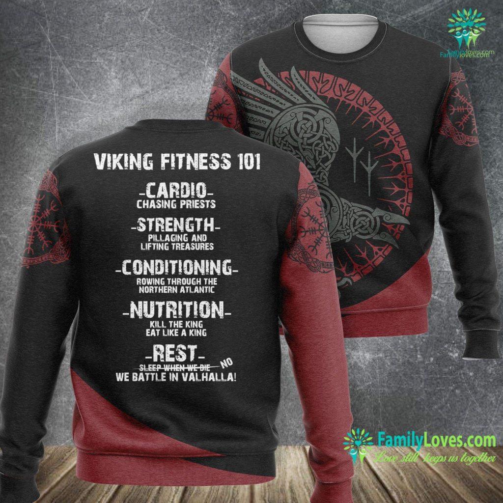 Viking Mead Viking Fitness 101 Gym Viking Sweatshirt All Over Print Familyloves.com