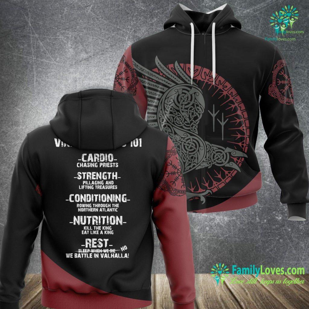 Viking Mead Viking Fitness 101 Gym Viking Unisex Hoodie All Over Print Familyloves.com