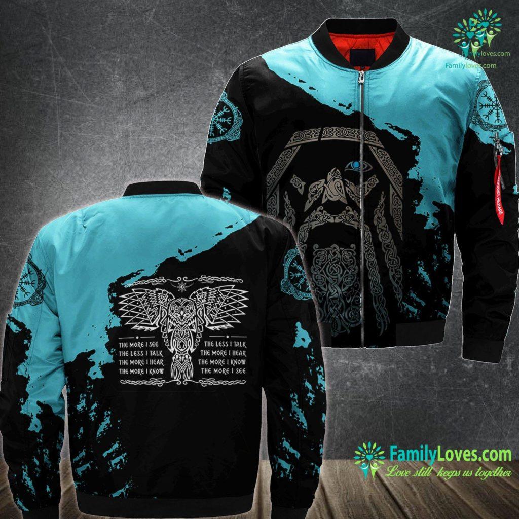 Viking Mug Celtic Owl Viking Wisdom Norse Tattoo Art Premium Viking Ma1 Bomber Jacket All Over Print Familyloves.com