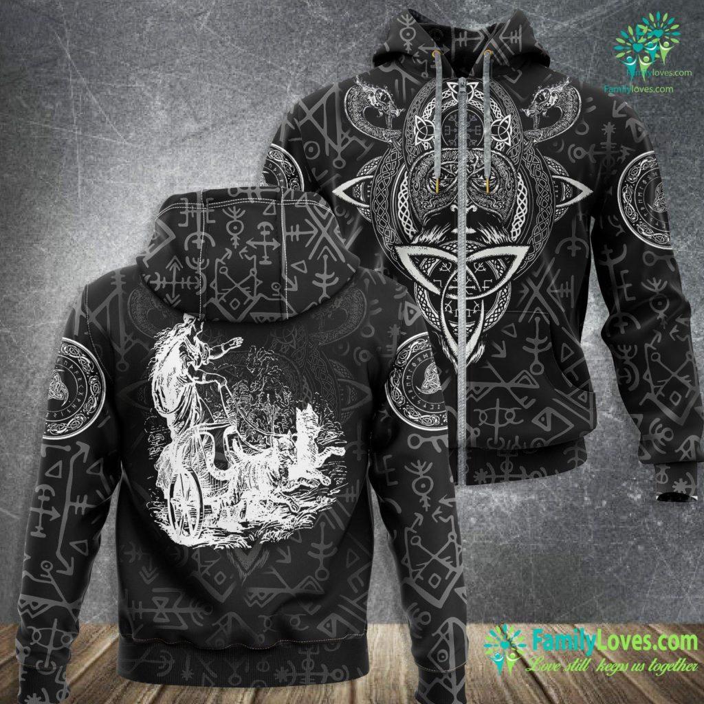 Viking Necklace Freyja Norse Mythology Vanir Goddess Viking Tee Viking Zip-up Hoodie All Over Print Familyloves.com