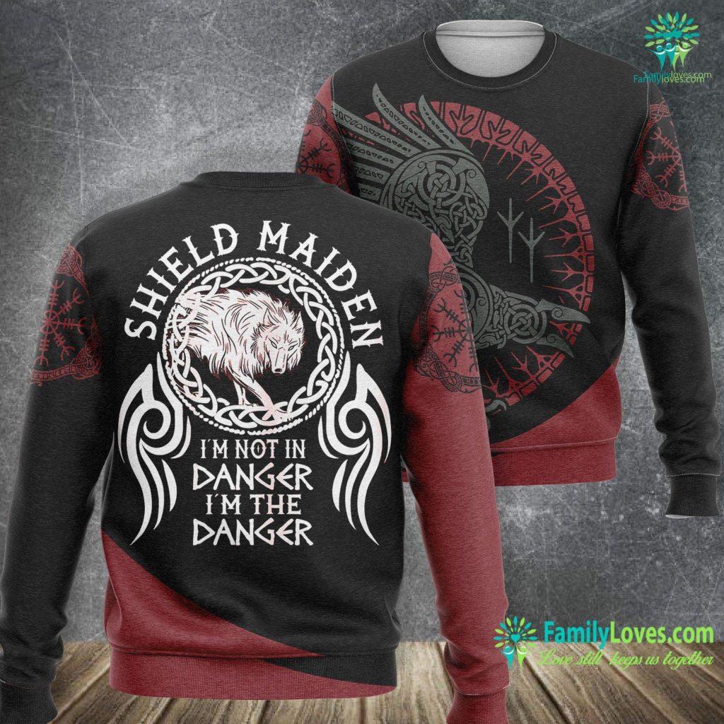 Viking Pendant Womens Vikings Viking Fenrir Shieldmaiden Lagertha Shield Maiden Viking Sweatshirt All Over Print Familyloves.com