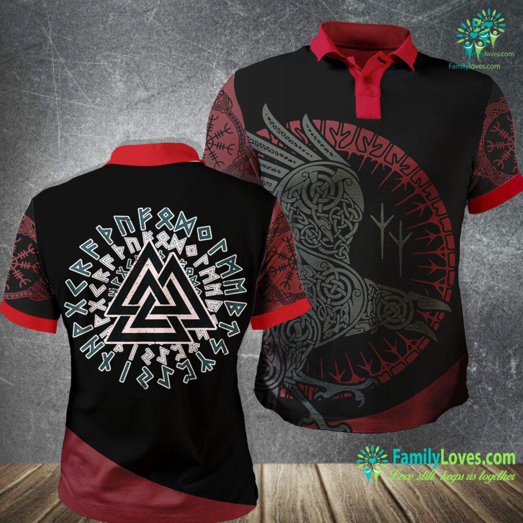 Viking Symbols Meaning Viking Valknut Norse Symbol Men Women Kids Gift Viking Polo Shirt All Over Print Familyloves.com