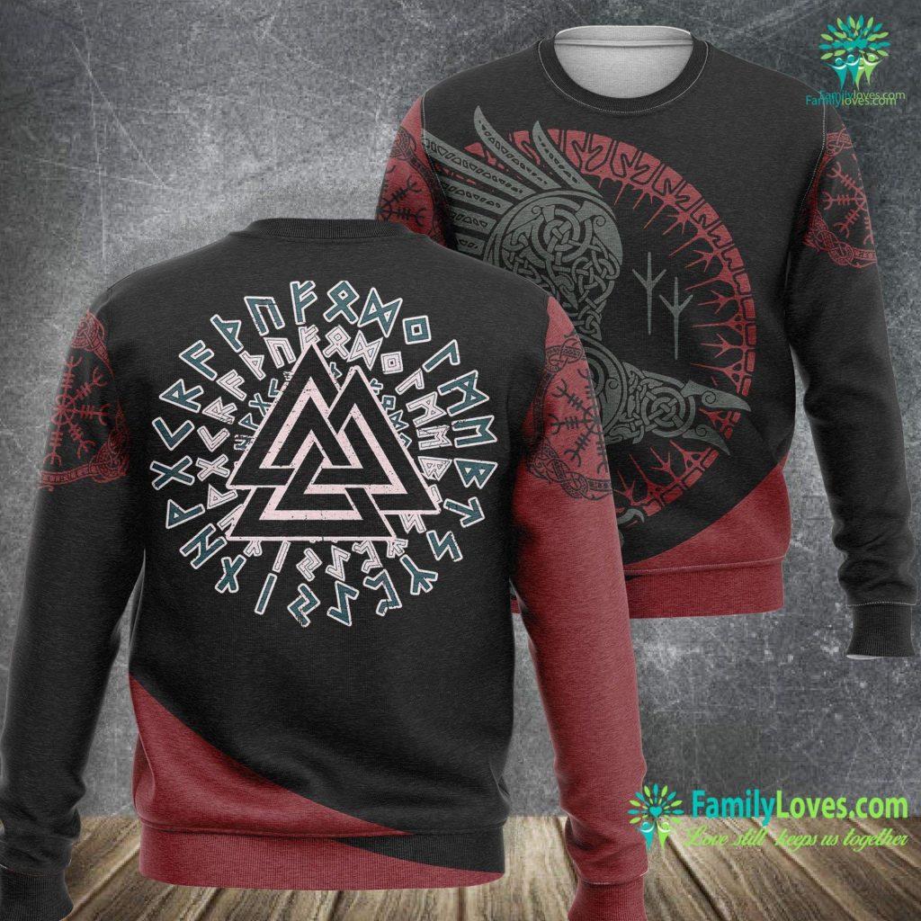 Viking Symbols Meaning Viking Valknut Norse Symbol Men Women Kids Gift Viking Sweatshirt All Over Print Familyloves.com