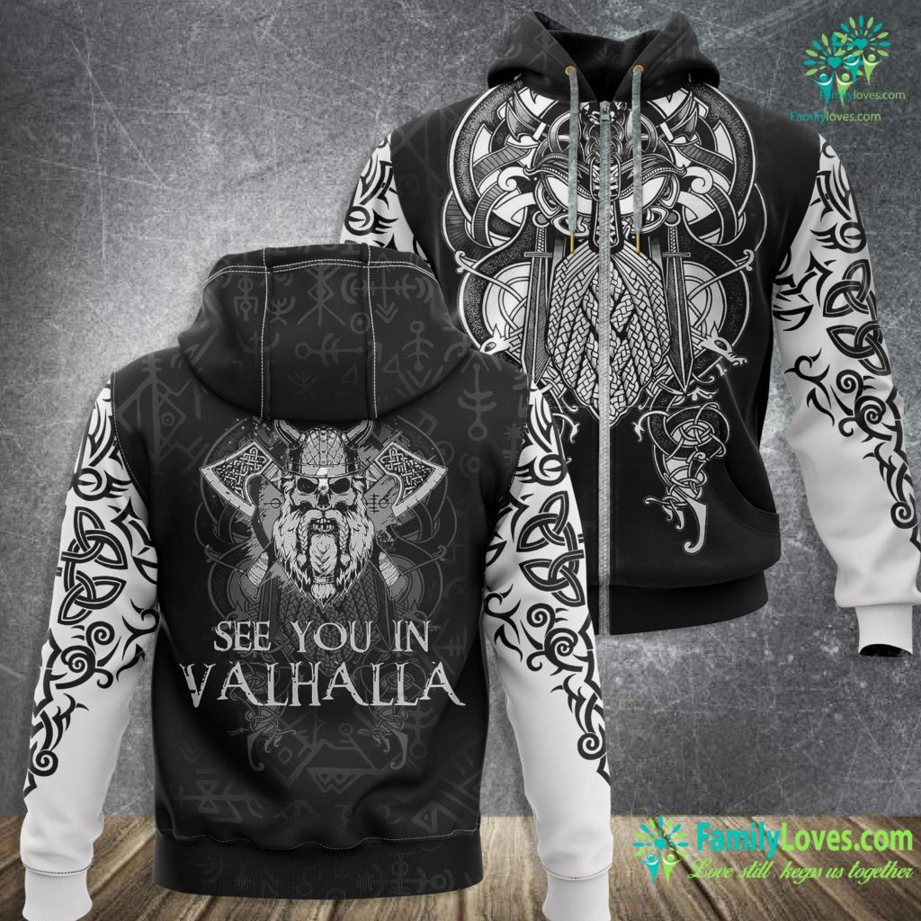 Viking Therapeutics Stock See You In Valhalla Viking Norway Norse Mythological Viking Zip-up Hoodie All Over Print Familyloves.com