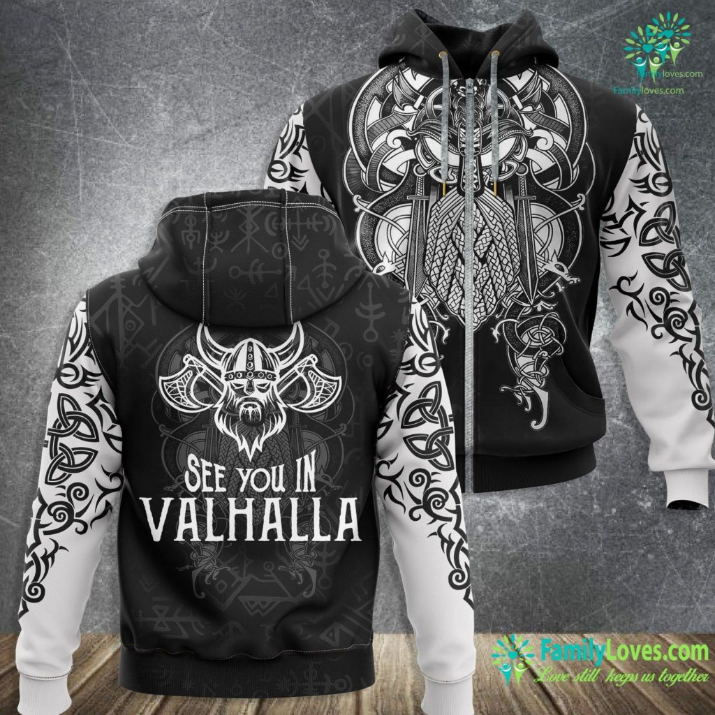 Vikings Blog See You In Valhalla Brother Viking Zip-up Hoodie All Over Print Familyloves.com