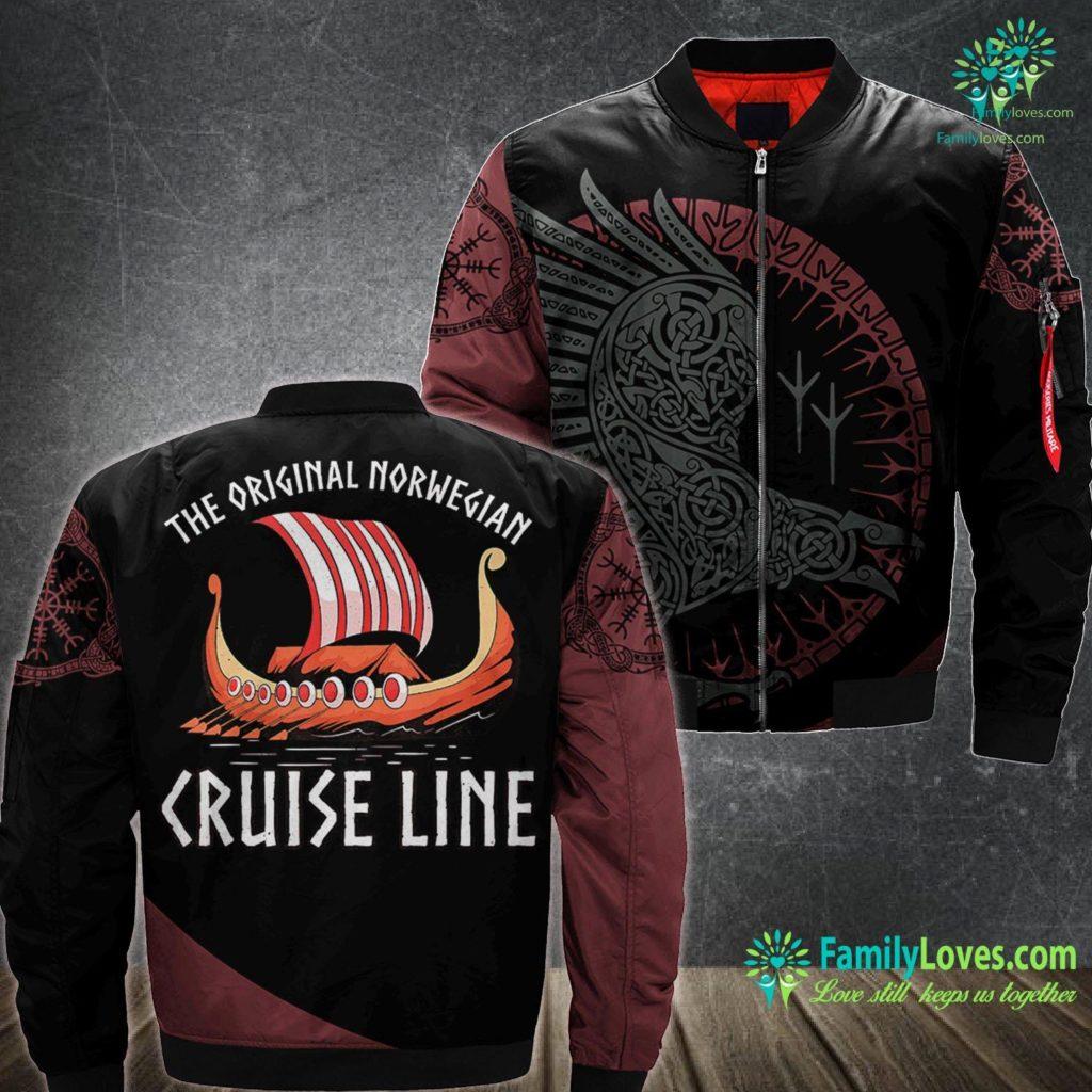 Vikings Historical Accuracy Viking Ship Cruise Norwegian Line Viking Ma1 Bomber Jacket All Over Print Familyloves.com