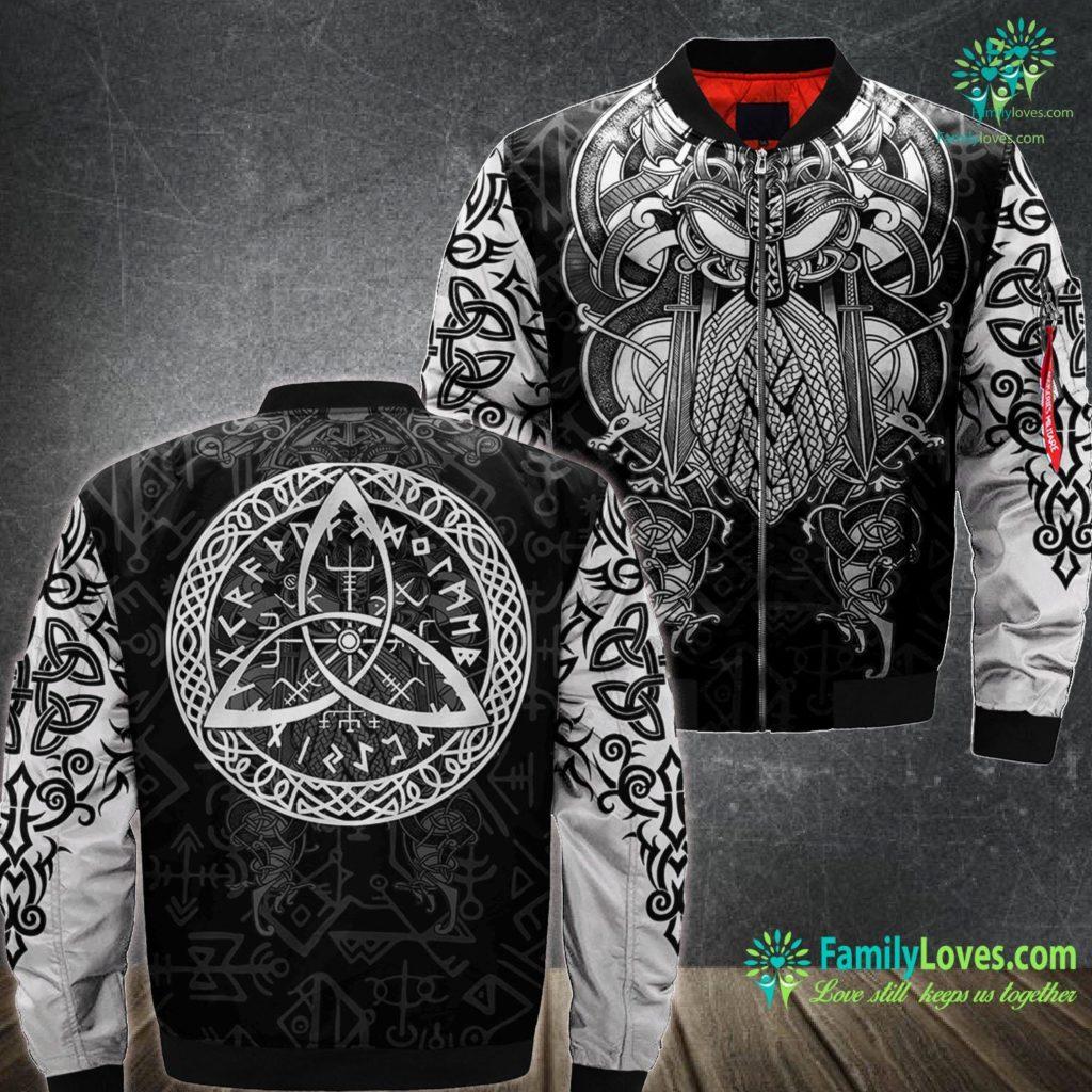 Vikings Merchandise Norse Viking Symbol Nordic Mythology Odin Celtic Gift Viking Ma1 Bomber Jacket All Over Print Familyloves.com