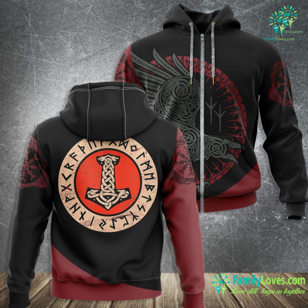 What Did Vikings Really Look Like Thor S Hammer Mjolnir Wotan Norse Mythology Odin Viking Viking Zip-up Hoodie All Over Print Familyloves.com