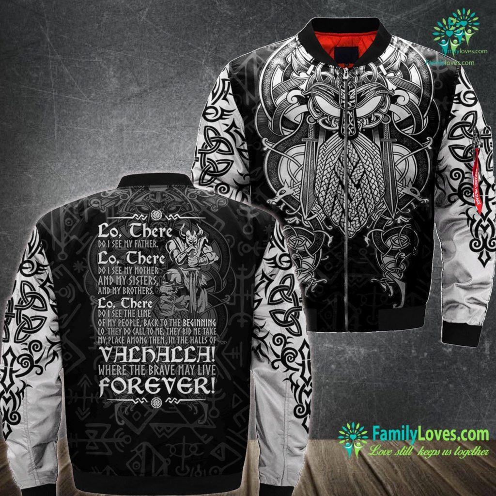 Who Is The God Of Thunder Norse Viking Gift For A Viking Warrior Premium Viking Ma1 Bomber Jacket All Over Print Familyloves.com