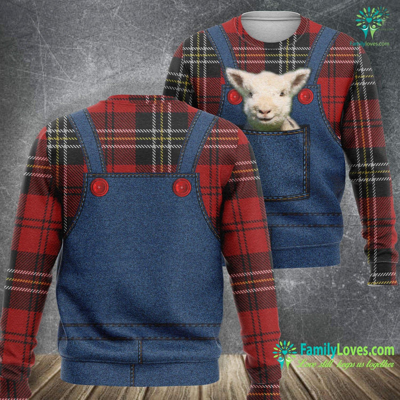 Animal Baby Sheeps 3D All Over Printed Sweatshirt Familyloves.com