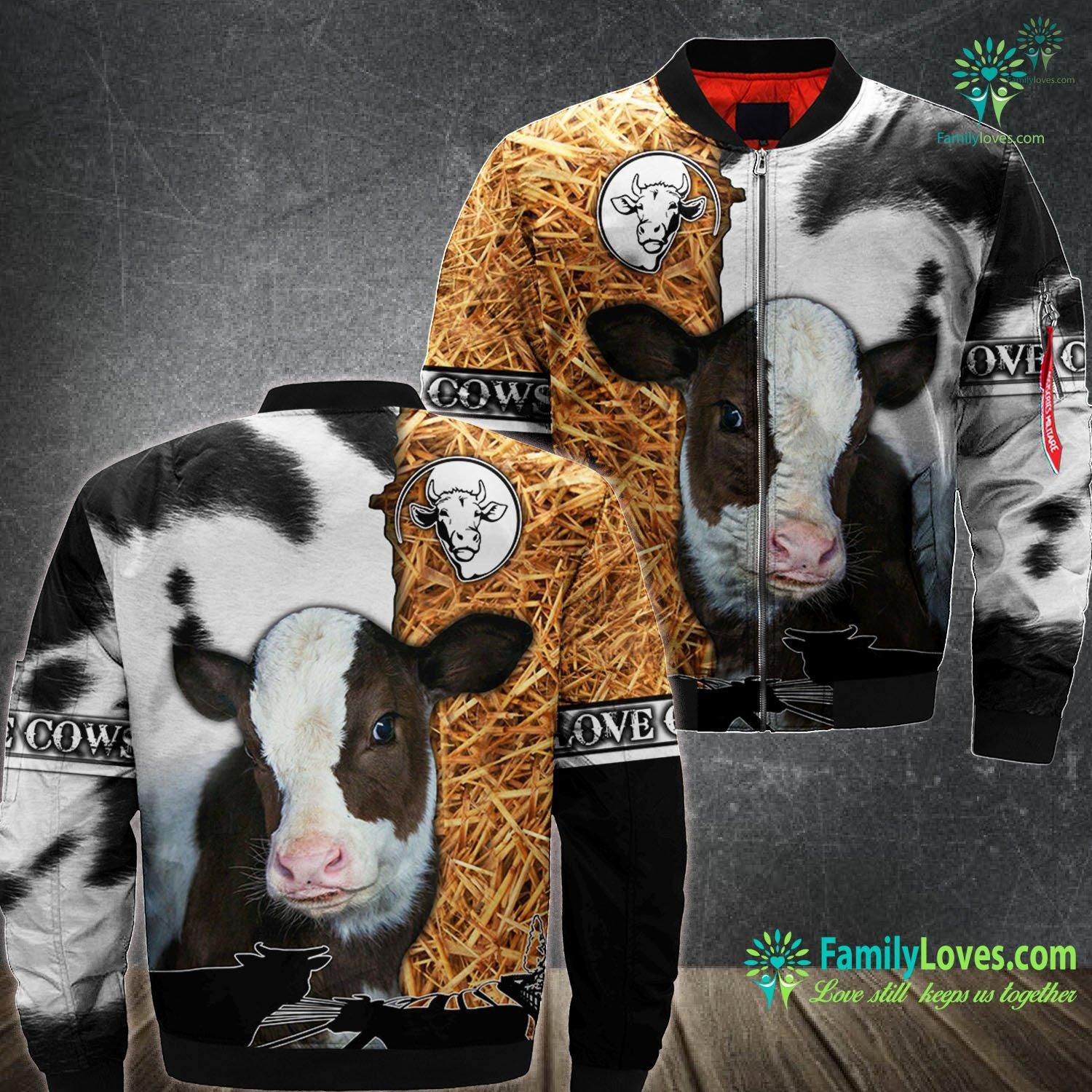Animal Cow 3D All Over Printed Bomber Jacket Familyloves.com