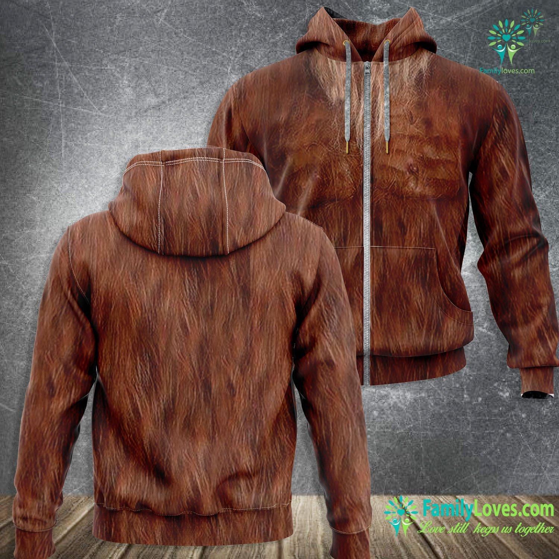Brown Bigfoot 3D All Over Printed Zip Hoodie Familyloves.com
